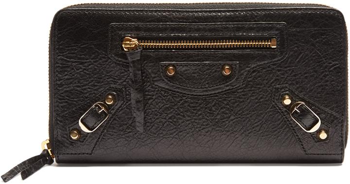 Balenciaga BALENCIAGA Classic Continental leather zip wallet