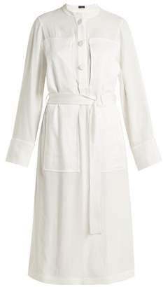 Joseph Fort Exaggerated Panel Satin Crepe Dress - Womens - White