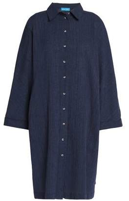 MiH Jeans Roller Crinkled Cotton And Linen-Blend Shirt Dress