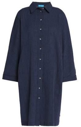 MiH Jeans Roller Crinkled Cotton And Linen-Blend Shirt Dress