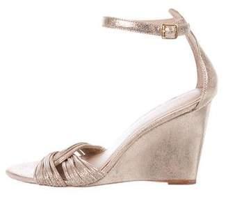Loeffler Randall Leather Ankle-Strap Wedges