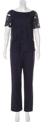 Tory Burch Embroidered Wide-Leg Jumpsuit