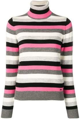 Emporio Armani polo neck striped jumper