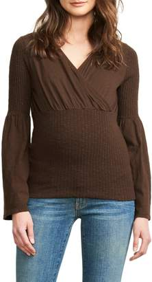 Maternal America Maternal American Belly Hug Knit Maternity Top