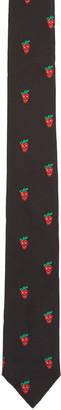 Paul Smith Black Strawberry Skull Tie $150 thestylecure.com