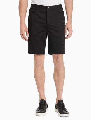 Calvin Klein Classic Fit 5-Pocket Stretch Sateen Shorts