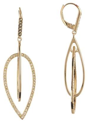 Judith Jack Gold Plated Sterling Silver Swarovski Pave Orbital Earrings