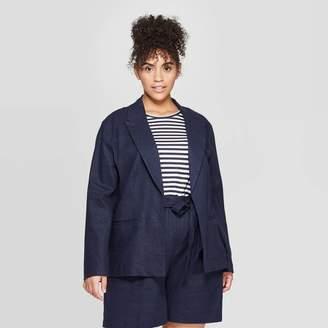 Ava & Viv Women's Plus Size Linen Blazer - Ava & VivTM