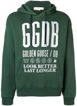 Golden Goose script printed hoodie