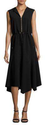 Lafayette 148 New York Santana Drawcord Waist Dress $598 thestylecure.com