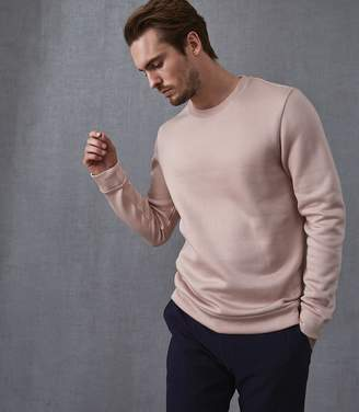 Reiss Our last order date for Christmas has now passed HATTON CREW NECK SWEATSHIRT Rose Melange