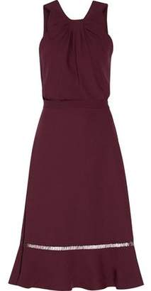 Raoul Bow-Embellished Pleated Crepe Mini Dress
