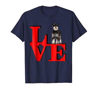 Mini A Ture Miniature Schnauzer Love Park I love my dog Shirt