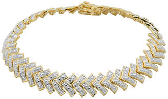 FINE JEWELRY Diamond-Accent 18K Gold Over Brass Chevron Bracelet