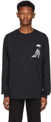 Toga Virilis Black Print Long Sleeve T-Shirt