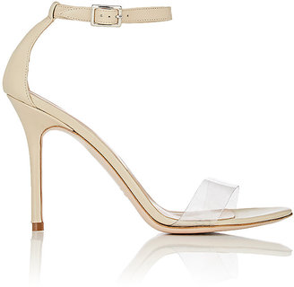 Barneys New York Women's Leather & PVC Ankle-Strap Sandals $295 thestylecure.com