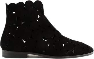 Alaia Flat Ankle Boots