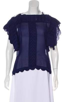 Etoile Isabel Marant Embroidered Short Sleeve Top