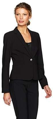 Calvin Klein Women's One Button Lux Jacket