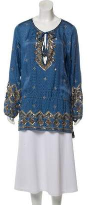 Calypso Beaded Long Sleeve Blouse