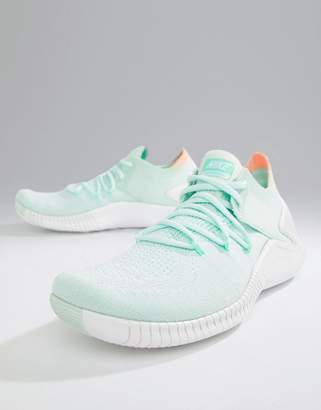 Nike Training Free Tr Flyknit Trainers In Mint