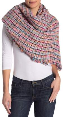 Collection XIIX Textured Plaid Tweed Scarf