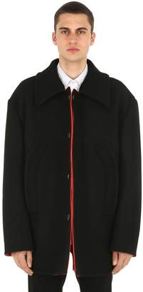 Raf Simons Reversible Wool Cloth Peacoat