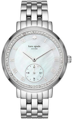 Stainless pave monterey multifunction watch $295 thestylecure.com