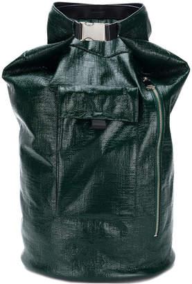 Jil Sander buckle slouchy backpack