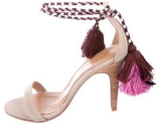 Ulla Johnson Suede Wrap-Around Sandals