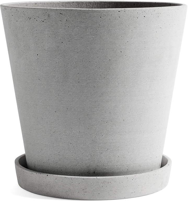 Hay - Blumentopf mit Untersetzer XXL, Grau