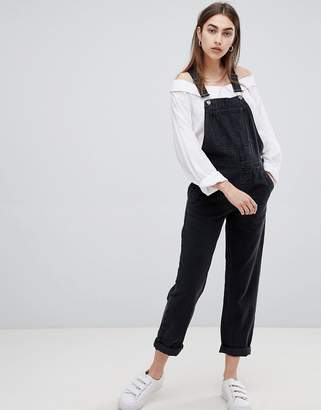 ASOS Denim Overalls in Washed Black $64 thestylecure.com