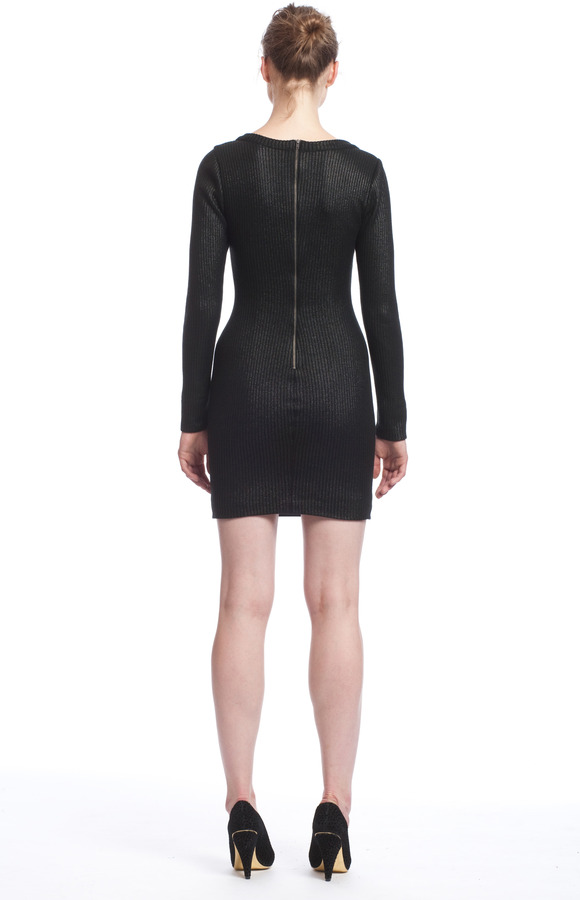 Tracy Reese Leather Front Dress