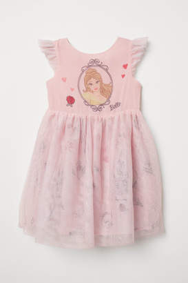 H&M Dress with Tulle Skirt - Pink