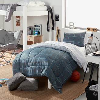 Simple By Design Grid Reversible Twin / Twin XL Bed Set