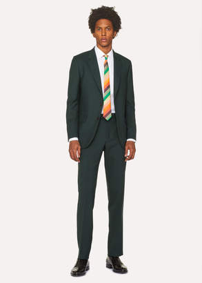 Paul Smith The Mayfair - Men's Classic-Fit Forest Green Wool 'A Suit To Travel In'