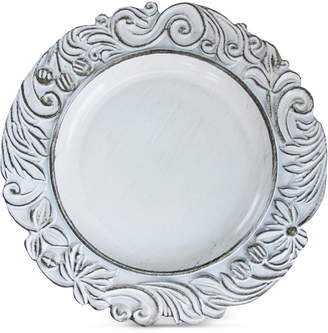 American Atelier Jay Imports Aristocrat White Antique Charger Plate