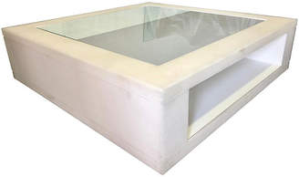 One Kings Lane Vintage Oversized Frosted Lucite Coffee Table - nihil novi