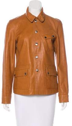 Lauren Ralph Lauren Long Sleeve Leather Jacket