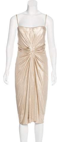 Christian Dior Sleeveless Metallic Dress