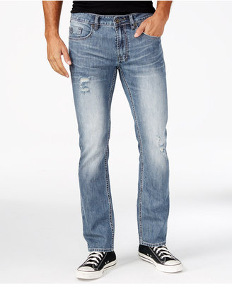 Buffalo David Bitton Men's Evan-X Men's Slim Fit Stretch Ripped Jeans, A Macy's Exclusive Style $99 thestylecure.com