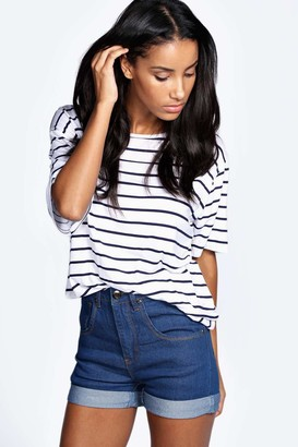 9f3c2d8669266 High-waisted Turn Up Denim Shorts - ShopStyle UK