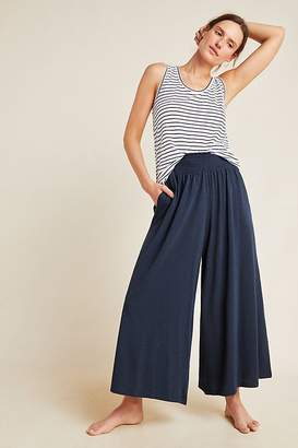 Anthropologie Spencer Smocked Wide-Leg Trousers