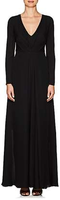 Giorgio Armani Women's Silk Chiffon Long-Sleeve Gown