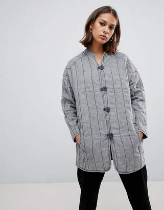 WÅVEN Lykke quilted collarless jacket
