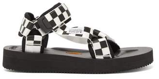 Suicoke Depa V2 Checkerboard Sandals - Womens - Black White