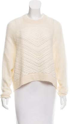 Helmut Lang Crop Knit Sweater