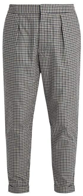 BARENA VENEZIA Checked relaxed-leg cotton trousers