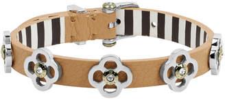 Henri Bendel Pave Petal Leather Bracelet