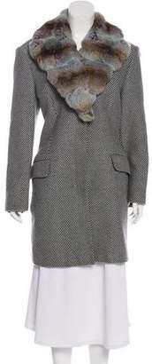 Kiton Fur-Trimmed Wool Coat